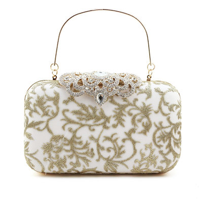 Elegant Embroidery Clutches/Top Handle Bags