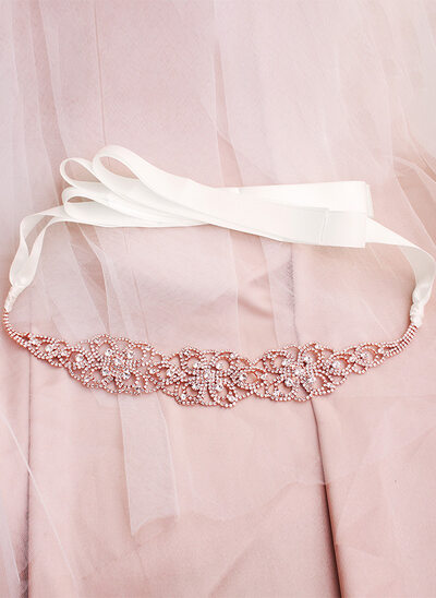 Elegant/Unique/Nice Satin Sash With Rhinestones