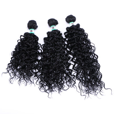 Curly Synthetic Hair Human Hair Weave (Set of 3) 210g
