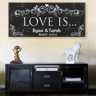 Groom Gifts - Personalized Classic Vintage Canvas Oil Painting