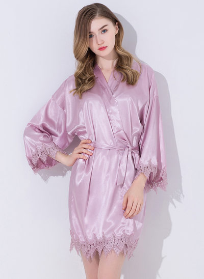 Lace Bride Bridesmaid Blank Robes Lace Robes