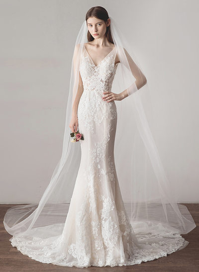 One-tier Cathedral Bridal Veils