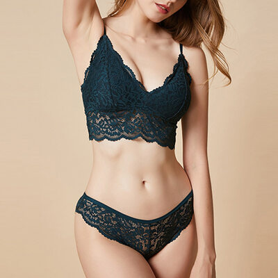 Girly Chinlon Nylon Bralettes Bra Sets