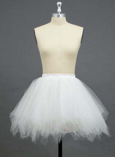 Femmes/Filles Tissu tulle/Polyester Court - longueur 3 couches Jupons
