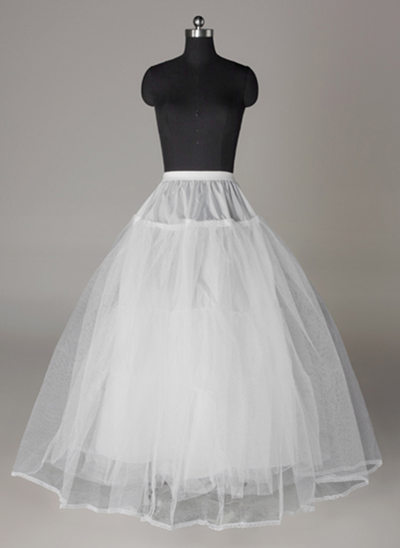 Women Tulle Netting/Lace Floor-length 4 Tiers Bustle