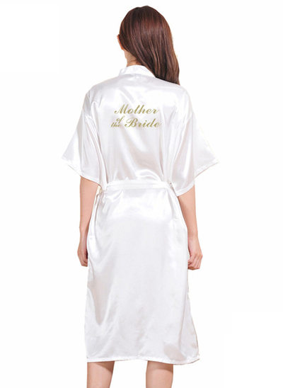 Personalized Charmeuse Mom Glitter Print Robes