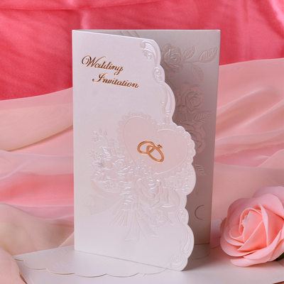 Blommig Stil Tri-Fold Invitation Cards