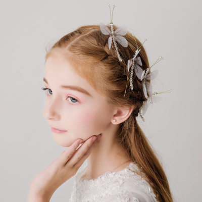 With Dragonfly Hairpins (Set of 4)