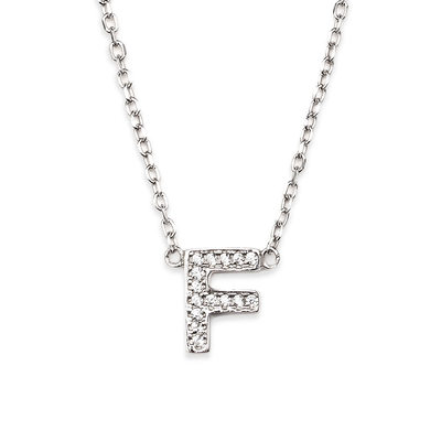 Personalized Silver Initial Letter Initial Necklace