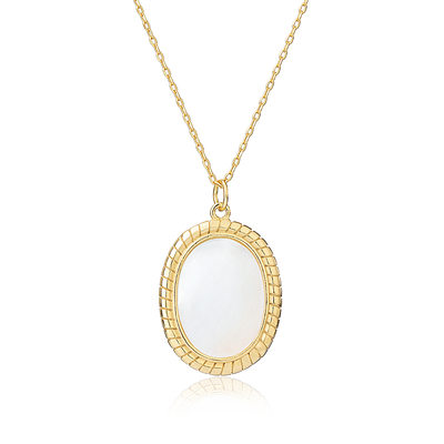 18k Gold Plated Silver Crystal necklace