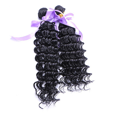 Deep Synthetic Hair Human Hair Weave (Set of 3) 210g