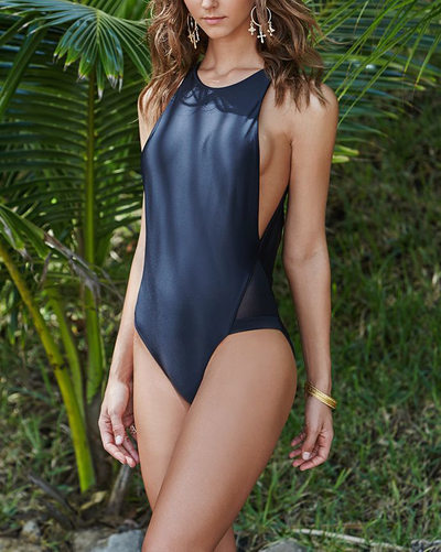 Elegant Solid Color One-piece