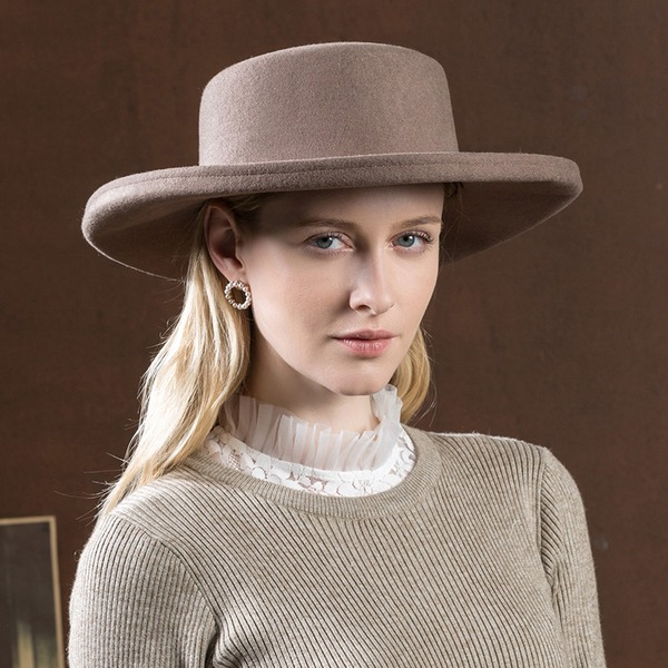 Ladies' Unique/Simple/High Quality Wool Floppy Hat