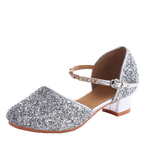Kids' Leatherette Sparkling Glitter Heels Ballroom Swing Dance Shoes