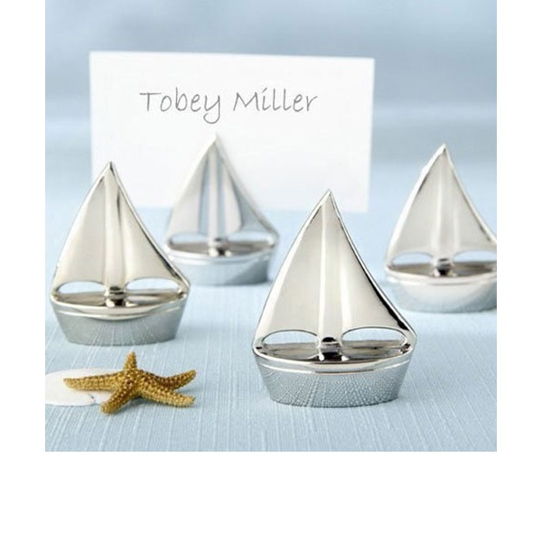 Sail Boat Stainless Steel Place Card Holders