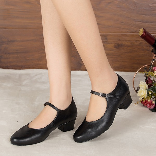 Women's Leatherette Heels Sandals Pumps Latin Ballroom Practice Character Shoes Dance Shoes