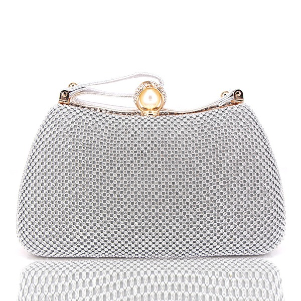 Dumpling Shaped Crystal/ Rhinestone Clutches