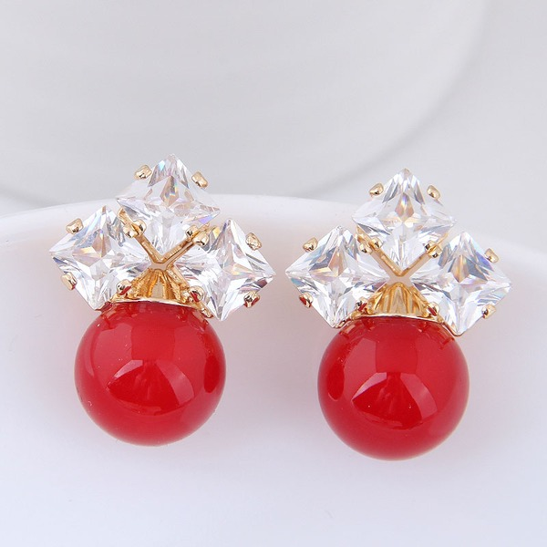 Beautiful Alloy Zircon With Zircon Women's Fashion Earrings