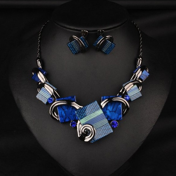 Beautiful Alloy Rhinestones Resin Ladies' Jewelry Sets