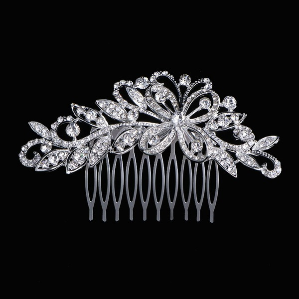 Ladies Elegant Rhinestone Combs & Barrettes With Rhinestone