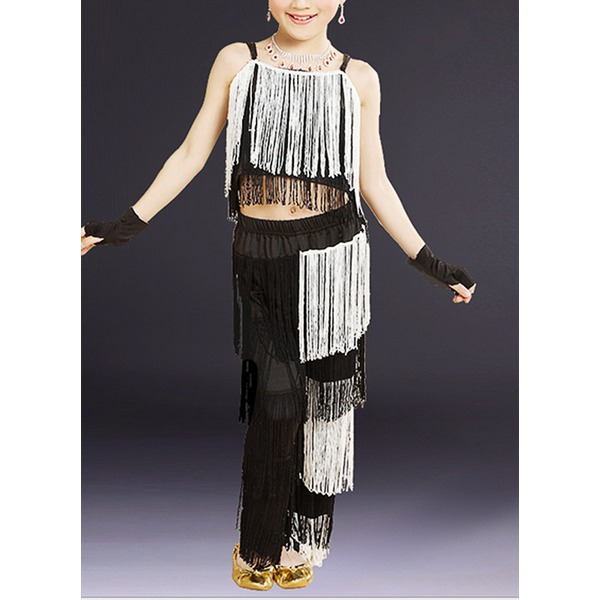 Kids' Dancewear Spandex Latin Dance Outfits