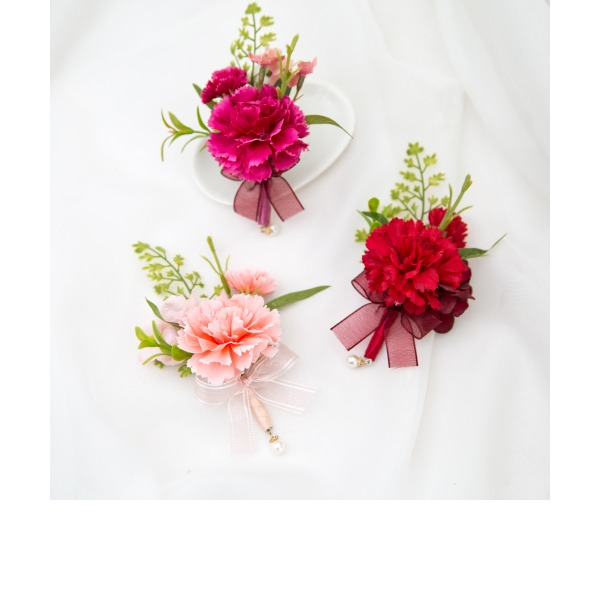 Pretty Free-Form Satin Boutonniere (Sold in a single piece) -