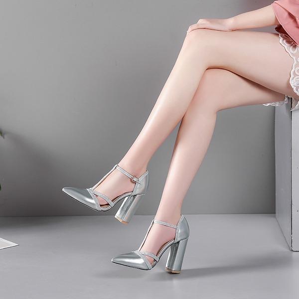 Femmes Cuir verni Talon bottier Sandales Escarpins avec Dentelle chaussures