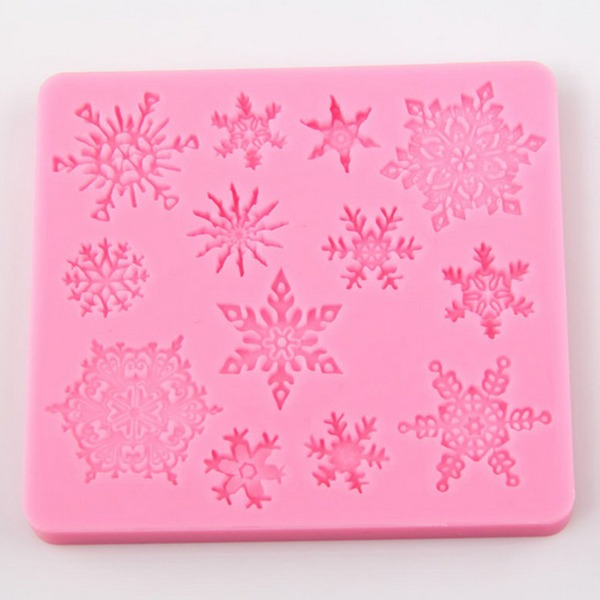 Snowflake silicone cake mould (Set of 3)