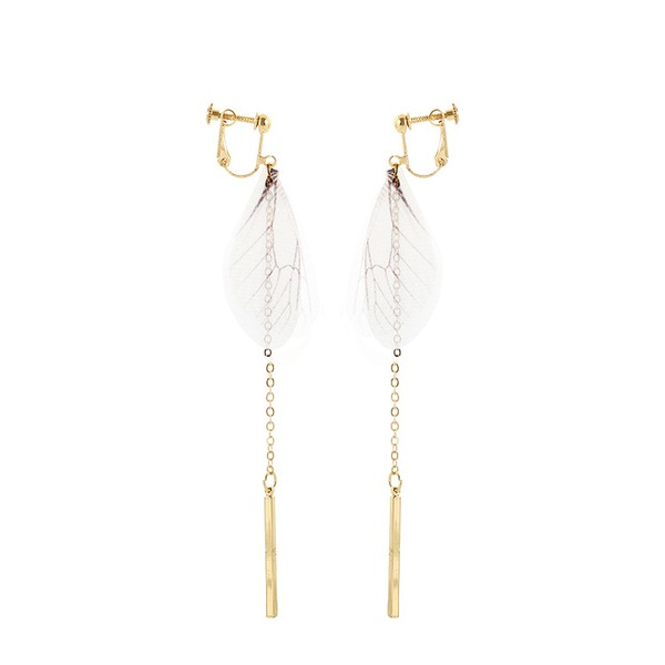 Wings Shaped Alloy Cloth Women's Fashion Earrings (Sold in a single piece)