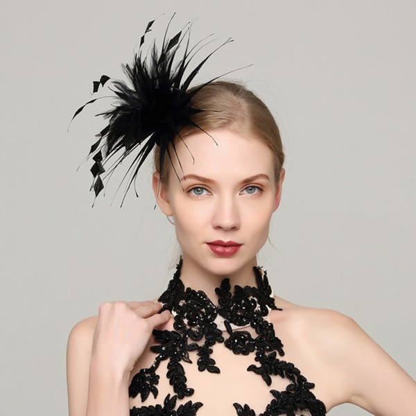 Dames Glamour Feather avec Feather Chapeaux de type fascinator
