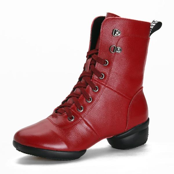 Женщины Натуральня кожа Танцевальные кроссовки Современный Танцевальные кроссовки Бальные танцы Обувь для танцев