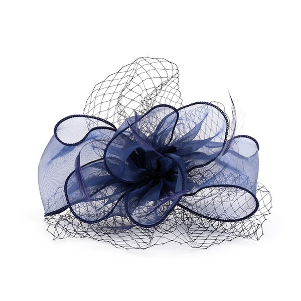 Dames Beau Organza/Feather Chapeaux de type fascinator/Chapeaux Tea Party