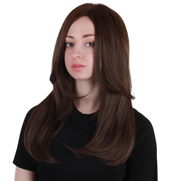 Kinky Straight Synthetic Hair Synthetic Wigs 200g
