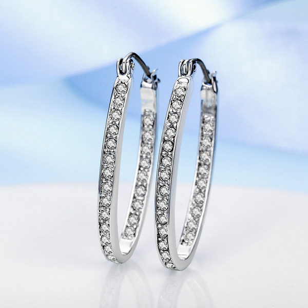 Ladies' Stylish Alloy/Crystal Crystal Earrings For Bridesmaid/For Friends