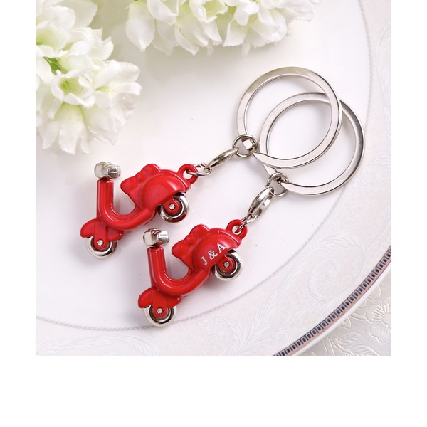 Personalized Cool Motorcycle Design Keychains(Set of 4)