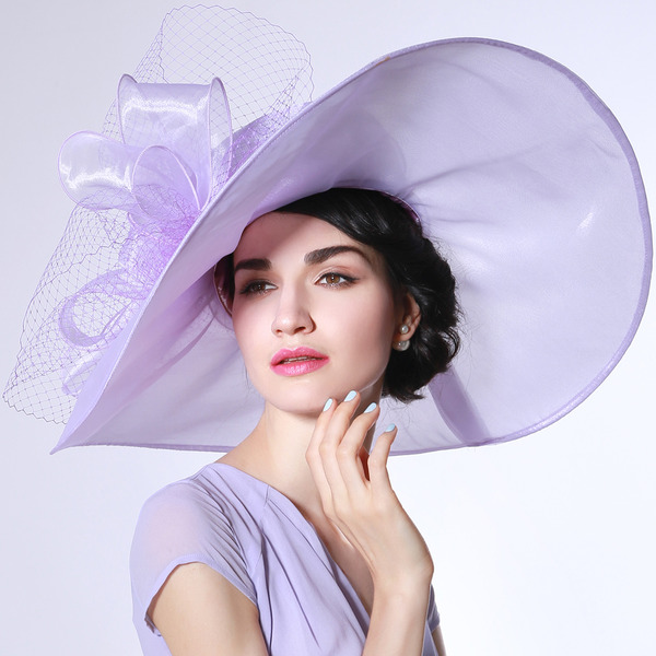 Damen Glamourös/Elegant/Erstaunlich Organza mit Tüll Kentucky Derby Hüte/Tea Party Hüte