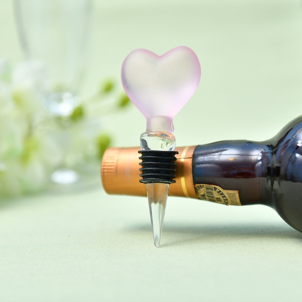 Heart Shaped Crystal Bottle Stopper