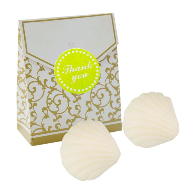 """Ocean Breeze"" Seashell Scented Soaps (Set of 2)"