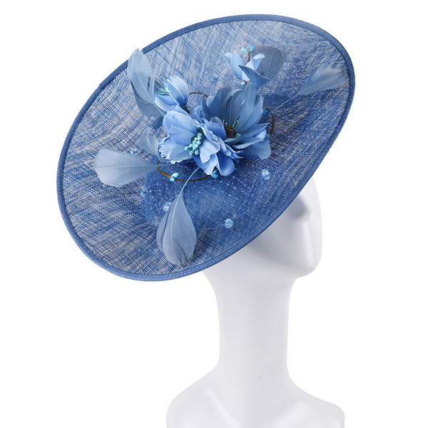 Signore Unico/Squisito/Occhi-cattura Cambrì con Piuma Fascinators/Kentucky Derby Hats/Cappelli da Tea Party