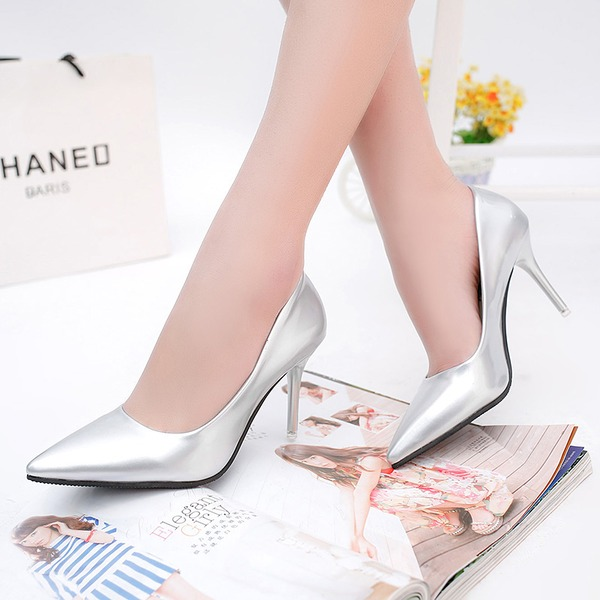 Women's PU Stiletto Heel Pumps Closed Toe With Others shoes