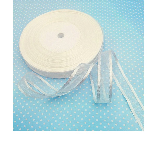 0.6inch 50yard Organza Ribbon DIY Gifts Packaging Material
