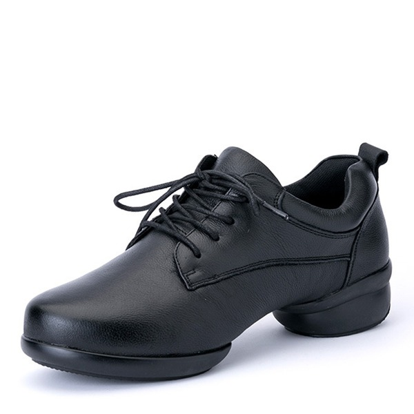 Men's Real Leather Sneakers Modern Jazz Sneakers Dance Shoes