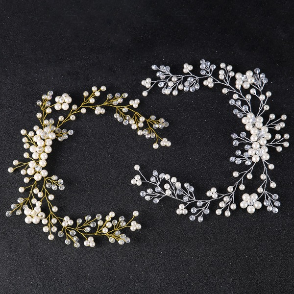 Ladies Elegant Rhinestone/Alloy/Imitation Pearls Headbands With Rhinestone/Venetian Pearl