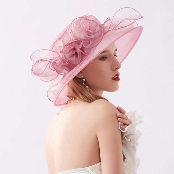 Ladies ' Classic/Elegant Netto garn med Blomst Strand / Sun Hatte/Kentucky Derby Hatte/Tea Party Hats