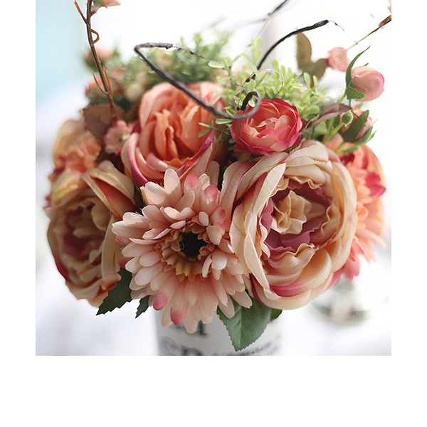 Girly Free-Form Fabric Bridesmaid Bouquets/Decorations -