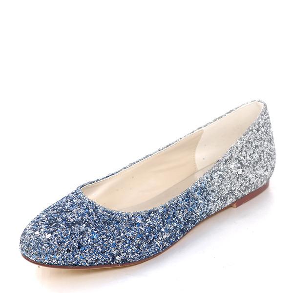 Kvinner Glitrende Glitter Flat Hæl Flate sko med Annet