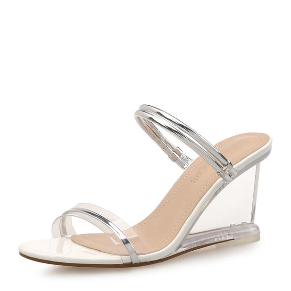 Frauen PU Keil Absatz Sandalen Keile Peep Toe Slingpumps mit Andere Schuhe