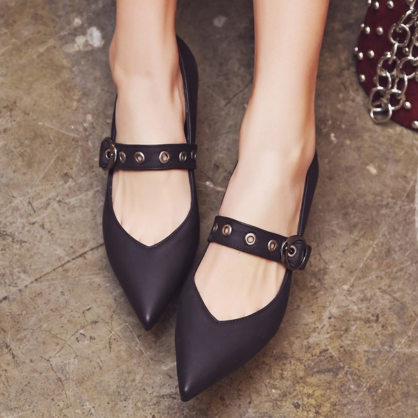 Femmes Similicuir Talon bottier Escarpins Bout fermé Mary Jane avec Boucle Autres chaussures
