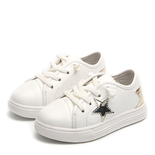 Unisexe Bout fermé similicuir talon plat Chaussures plates Sneakers & Athletic avec Dentelle