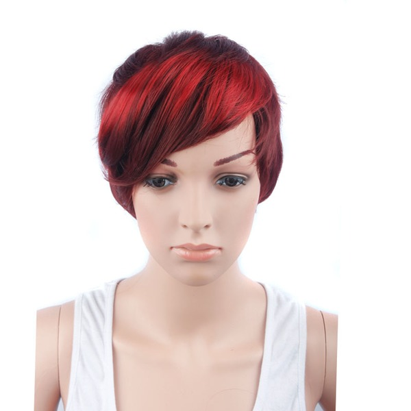 Straight Pixie Synthetic Wigs (Sold in a single piece)